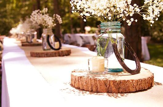оформление стола на свадьбу в стиле кантри