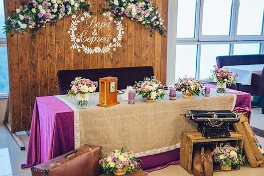 оформление зала на свадьбу в стиле кантри
